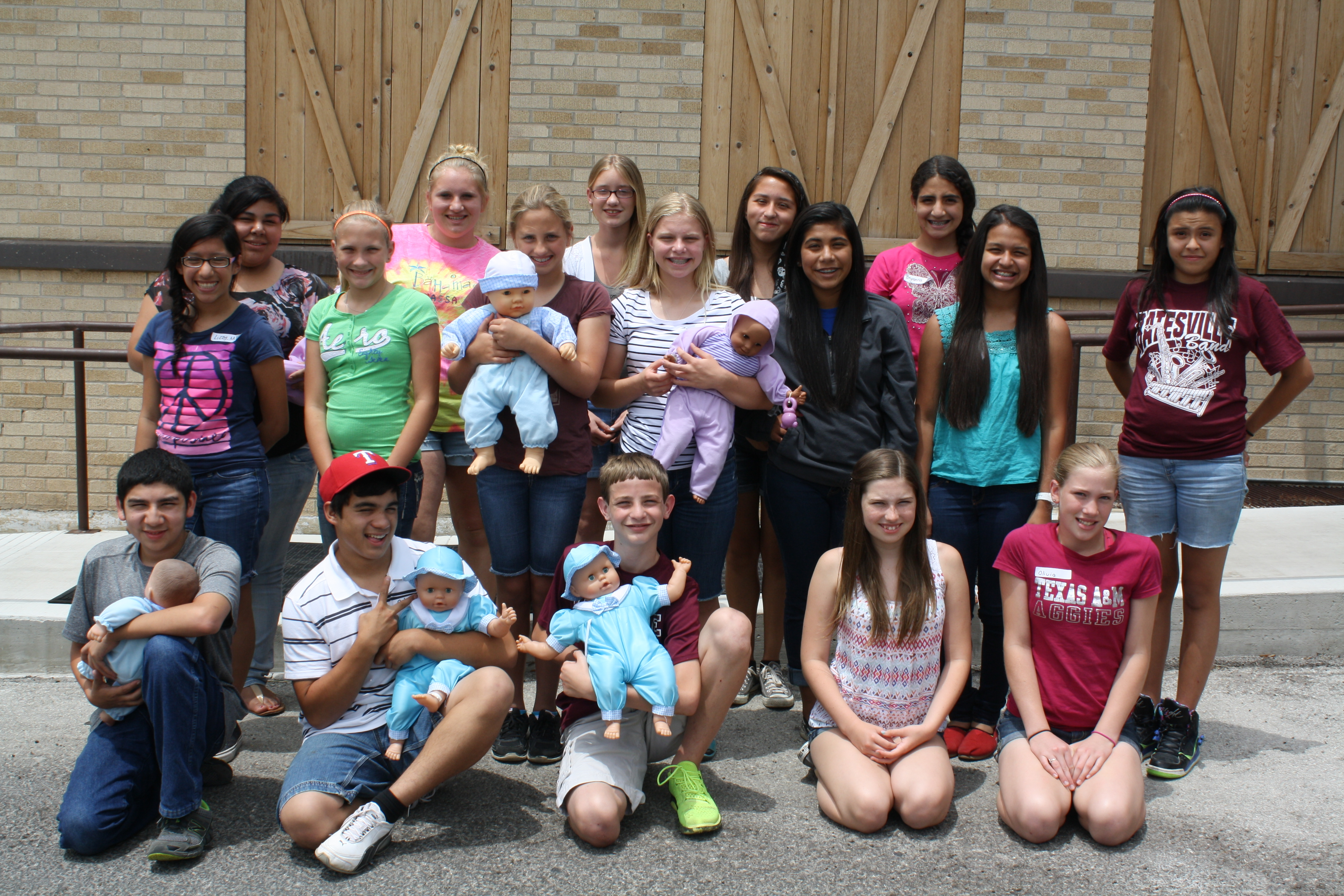 Group of Teens Now Certified Babysitters